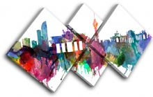 Berlin Watercolour  Abstract City - 13-6032(00B)-MP19-LO